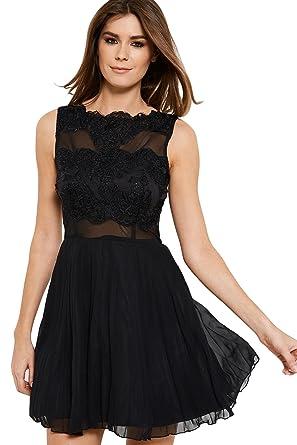 AX Paris Mesh Skirt Lace Skater Dress From Brand Attic