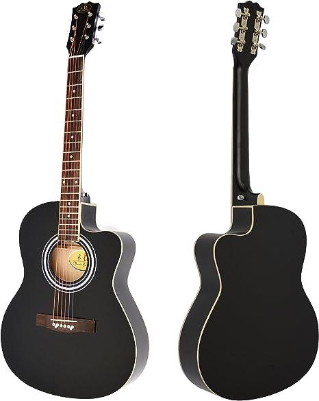 Ts-ideen - Guitarra acústica (tamaño 4/4, con cuerdas de recambio ...