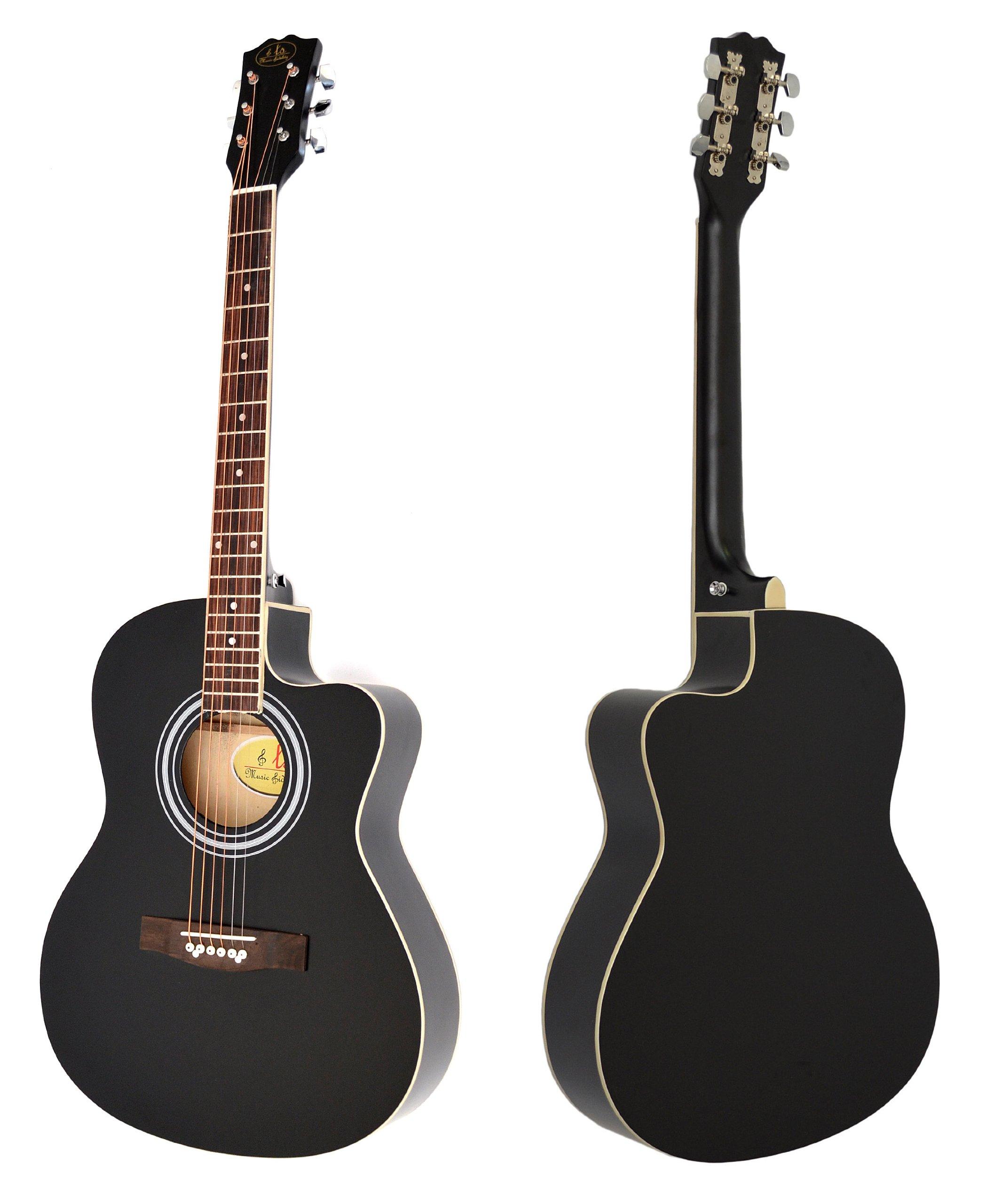 Ts-ideen - Guitarra acústica (tamaño 4/4, con cuerdas de recambio