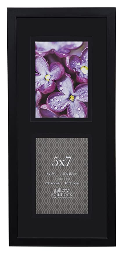 Amazon.com - GALLERY SOLUTIONS 8x19 Black Wood Wall Frame with 2 ...