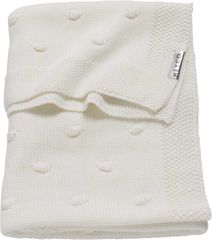 Meyco 2733052 Couverture tricot/ée avec n/œud Rose 75 x 100 cm