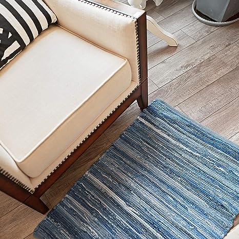 Amazon.com: MOTINI Hand Woven Washable Cotton Rag Rug ...