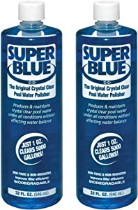 Robarb 20154A-02 Super Swimming Pool Clarifier, 1-Quart, Blue, 2-Pack