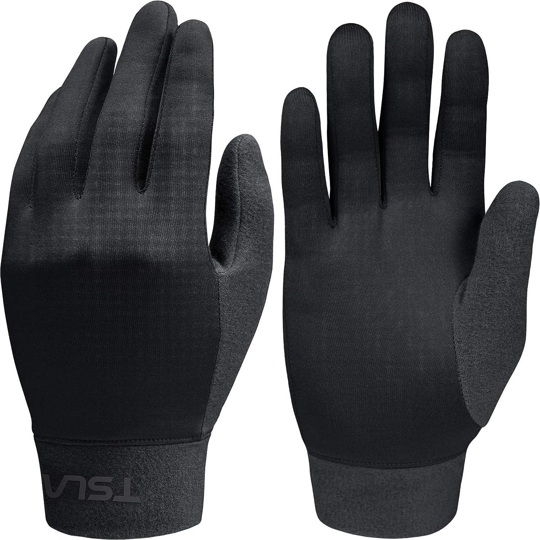 TSLA Fleece Liner Running Gloves Cycling Active Compression Lightweight Unisex YZV02 Tesla Gears