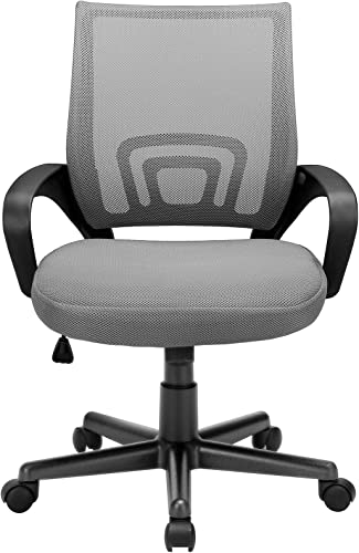BOSSIN Office Chair Mesh Desk Chair Ergonomic Computer Chair