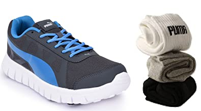 e45d09cd0a64 Image Unavailable. Image not available for. Colour  PUMA Men s Blue Running  Sports Shoes 702 COMBO OFFER-3 Pairs ...