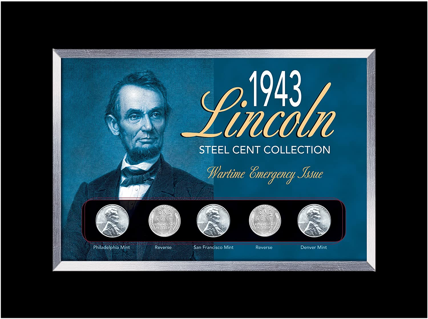 American Coin Treasure WWII 1943 Lincoln Steel Cent /& 1942-45 Wartime Nickel
