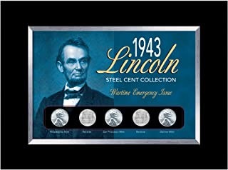 product image for American Coin Treasures 1943 Lincoln Steel Penny Collection Wartime Emergency Issue in Small Frame