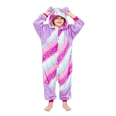 71158a165 Amazon.com  RONGTAI Kids Unisex Animal Flannel Panda Onesie Pajamas ...