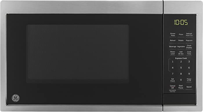 GE Appliances JES1095SMSS Microwave Oven, 0.9 Cu Ft, Stainless Steel