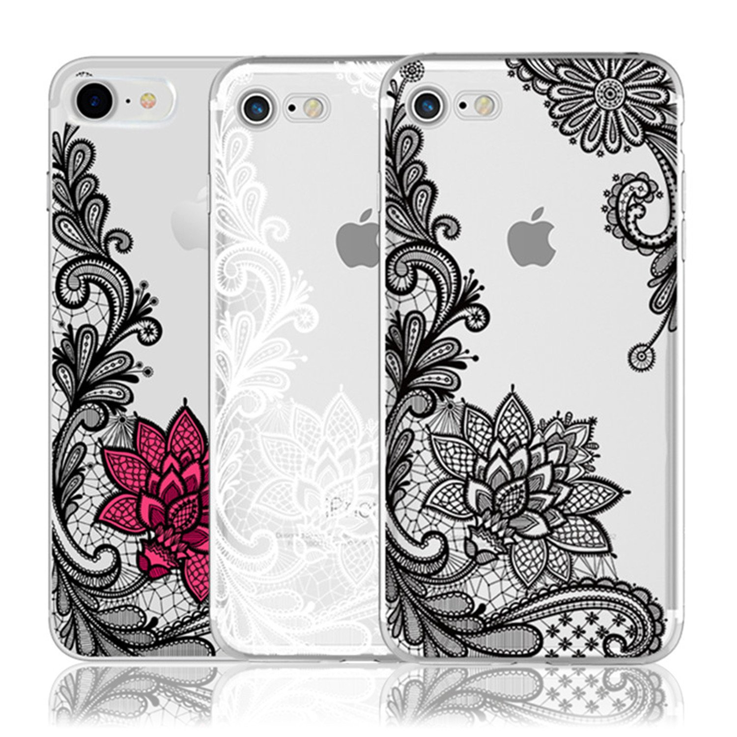 Amazon.com: Coac3 Lace Mandala Case For iPhone X 8 7 6 6S ...