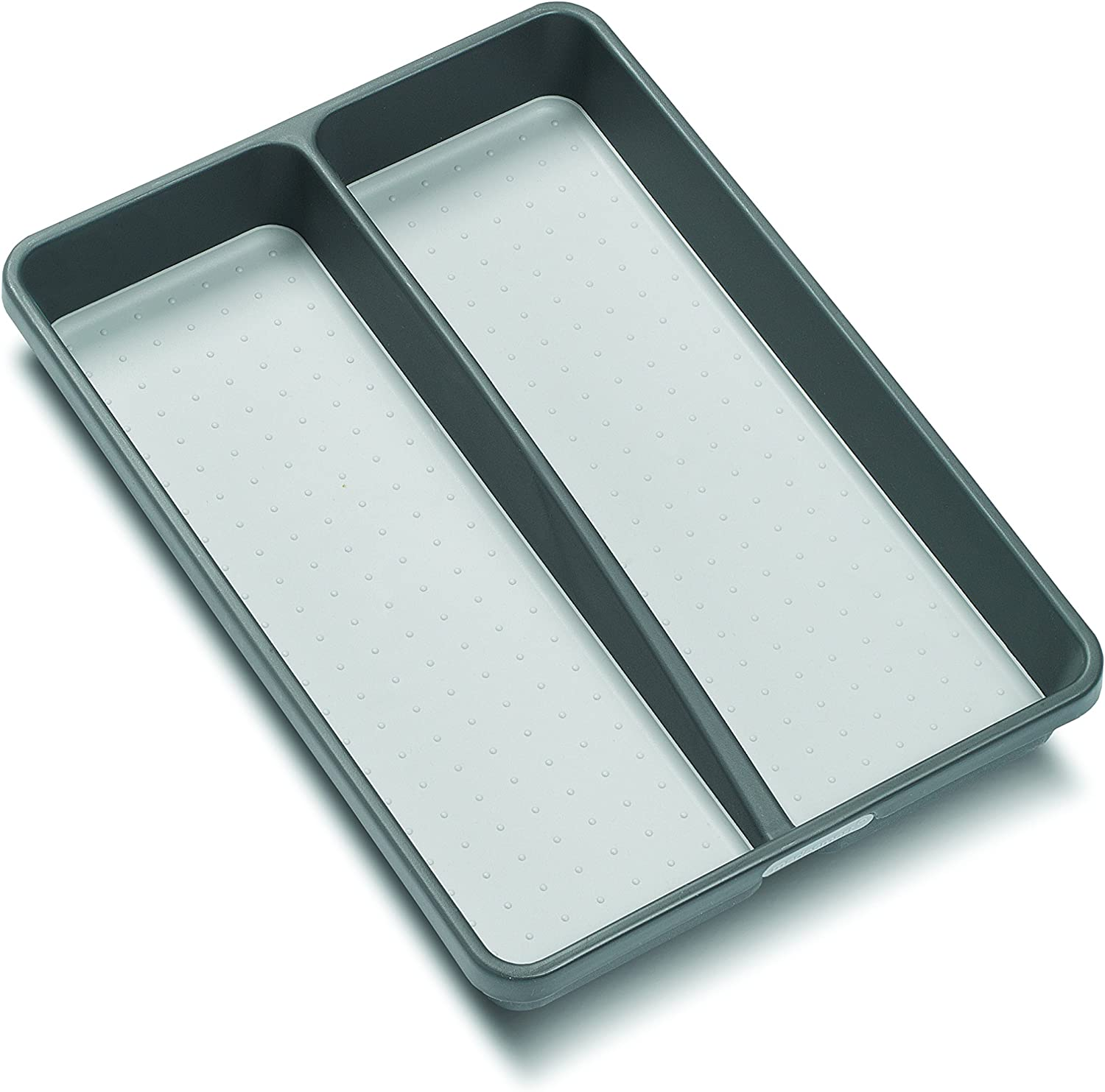 madesmart Classic Mini Utensil Tray - Granite | CLASSIC COLLECTION | 2-Compartments | Kitchen Organizer | Soft-grip Lining and Non-slip Rubber Feet | BPA-Free