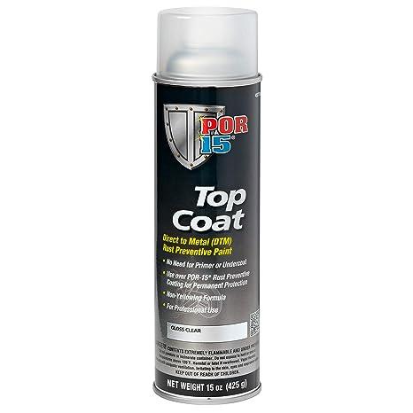Top Coat Paint >> Por 15 45718 Top Coat Gloss Clear Spray Paint 14 Fluid Ounces