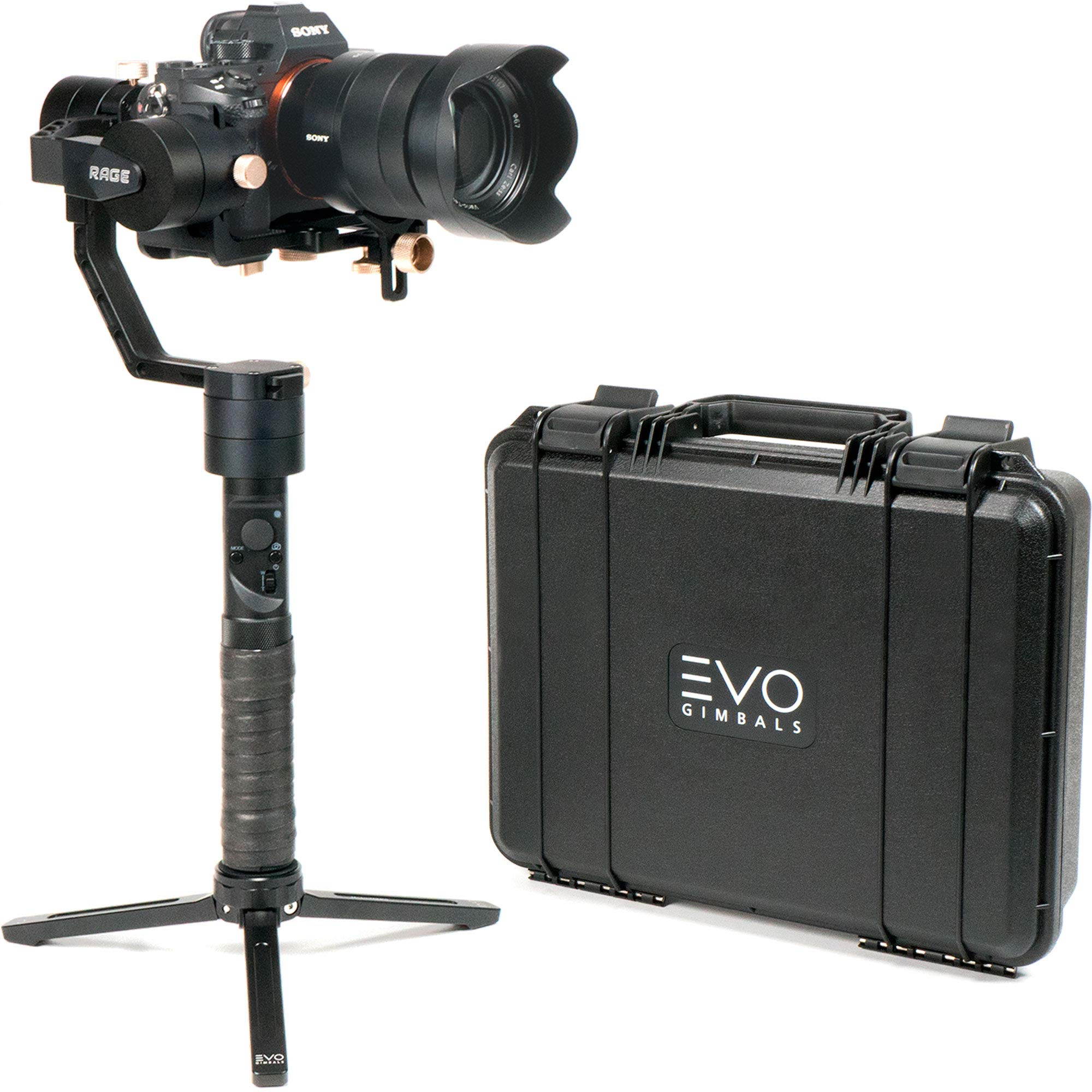 EVO Rage Gen2 Camera Stabilizer for DSLR or Mirrorless Cameras, Works with Sony, Panasonic and Most Cameras 0.75 to 5.5lbs, 1 Year US Warranty and Tech Support by EVO Gimbals