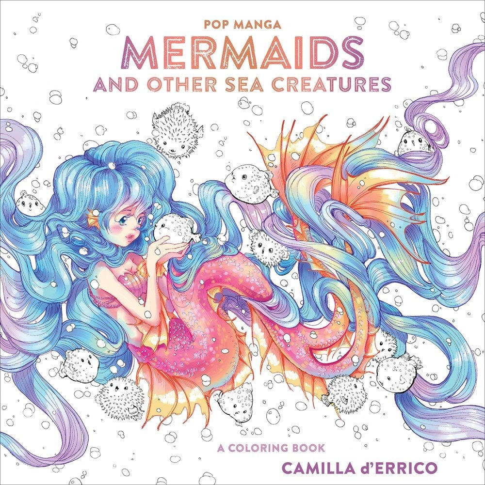 Image for Pop Manga Mermaids and Other Sea Creatures: A Coloring Book
