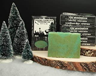 product image for Clean Pine, Fresh Snow, Woodsman Bar, Fading Frontier Trading Co. Artisan Soap, Cold Process Soap, Beeswax Soap