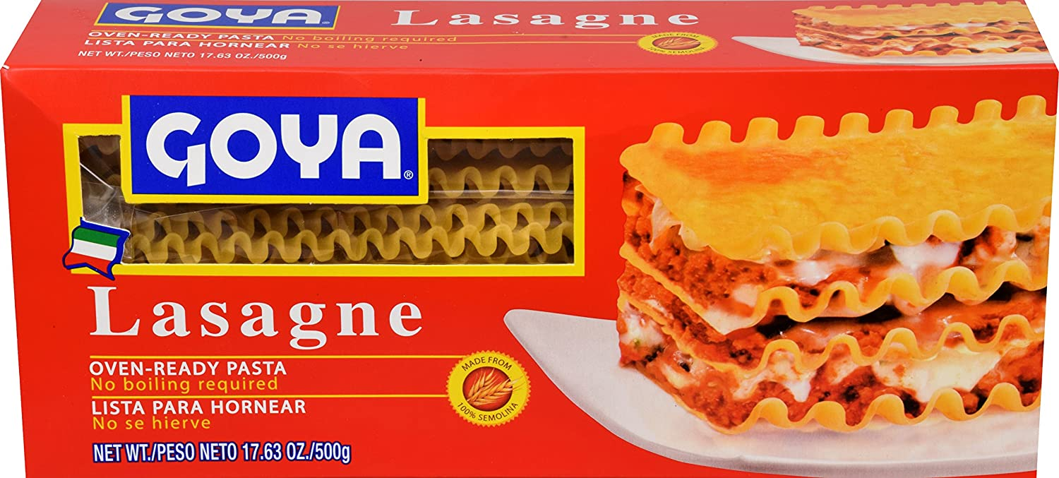 Amazon.com : Goya Foods Lasagne Oven Ready Pasta, 17.63 Ounce (Pack of 12) : Grocery & Gourmet Food