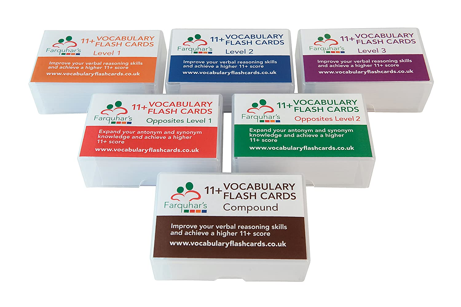 11+ Vocabulary Flash Cards - Set of 6
