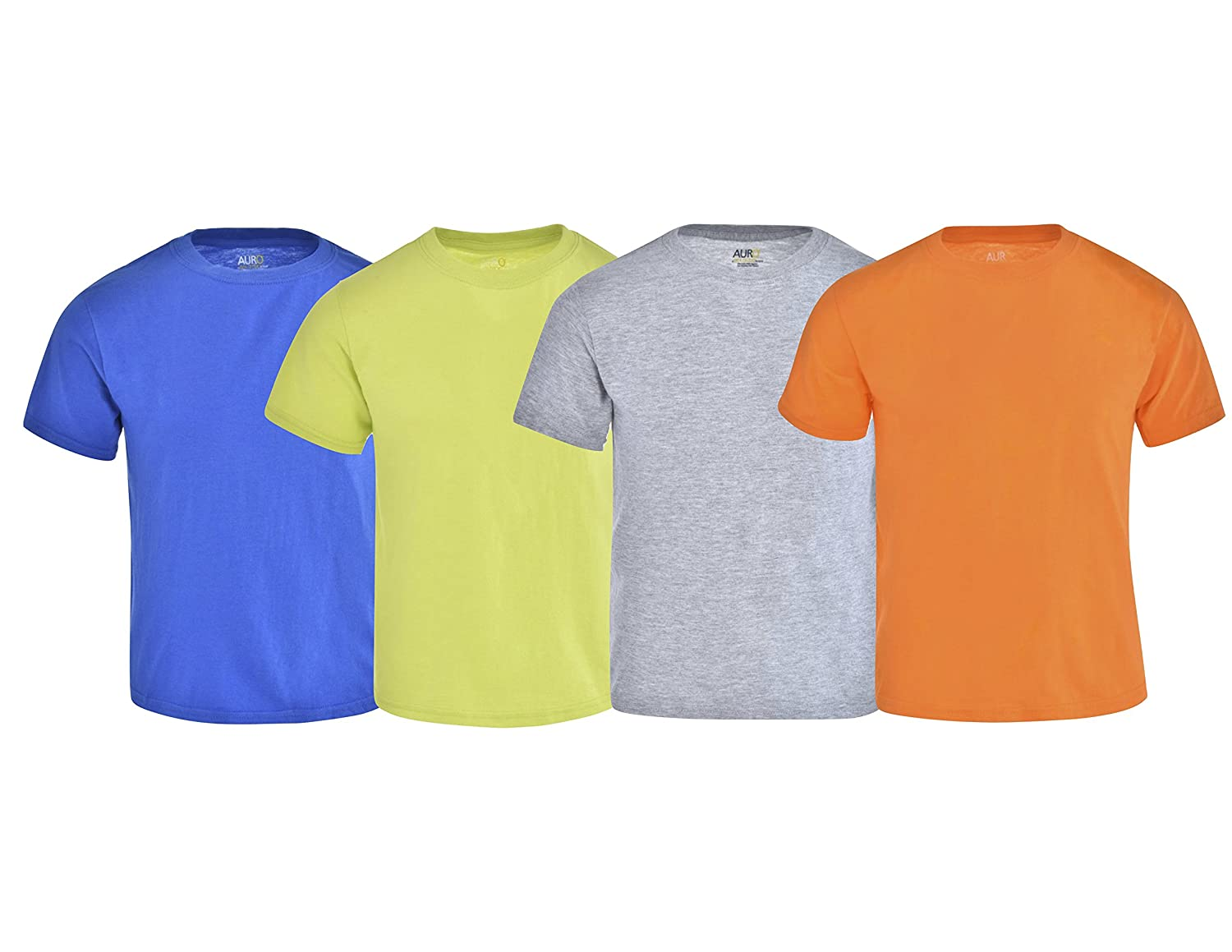 Auro Boys Color Crew Neck Tee, 4 Pack(a Gold Toe Brand)