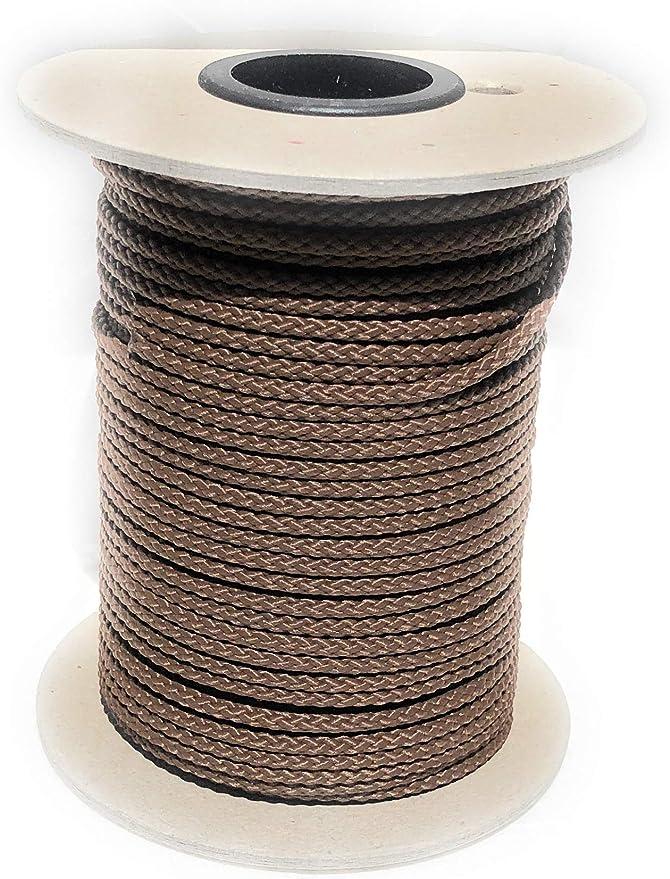 Cuerda de polipropileno, rollo de 50 m de longitud y 5 mm de grosor, en varios colores, cuerda trenzada, cordino, jarcia, cuerda de amarre