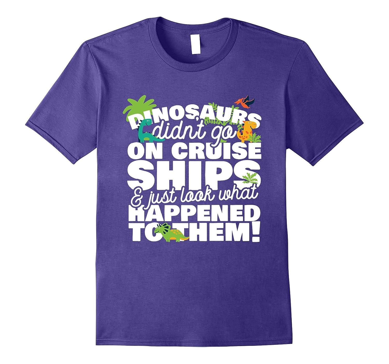 Funny Dinosaur Cruise Ship Group T-Shirt Men And Women Style-Art