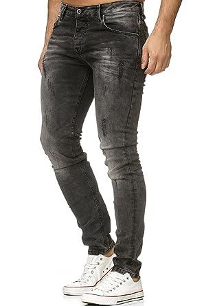 d06046102100f0 Red Bridge Herren Jeans Hose Slim Skinny Fit Denim Dunkelgrau  Amazon.de   Bekleidung