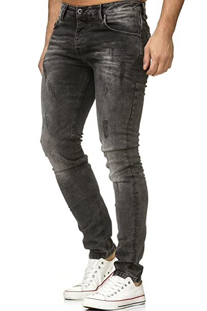 Red Bridge Hombre Pantalones Denim Destruida Mira Skinny ...