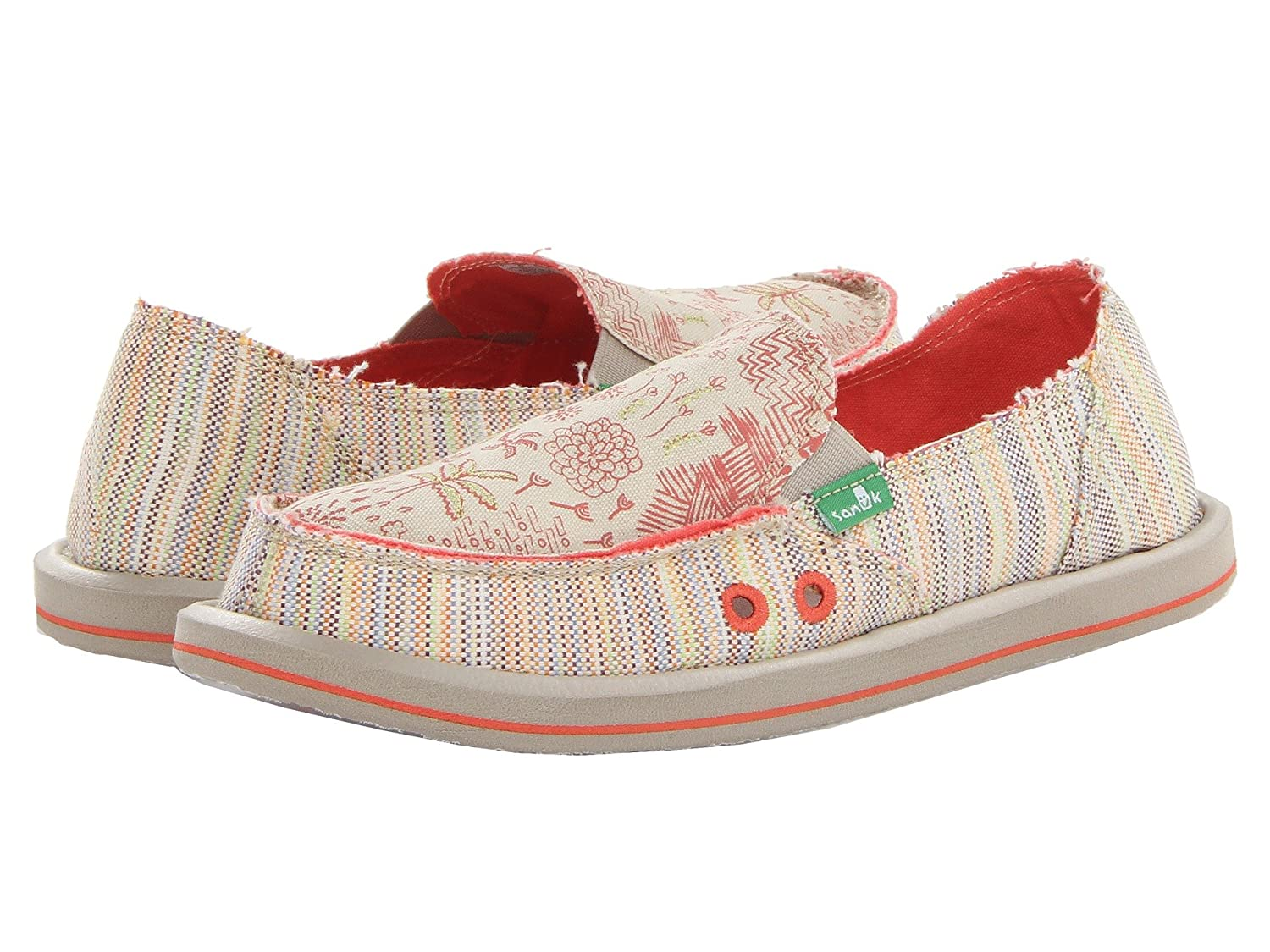 Sanuk Women's Scribble Flat B01M0S578Q 5 B(M) US|Tropical.