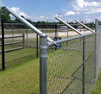 Chain Link Fence Set Outdoor Garden Fencing Panel Roll with Posts /& Hardware