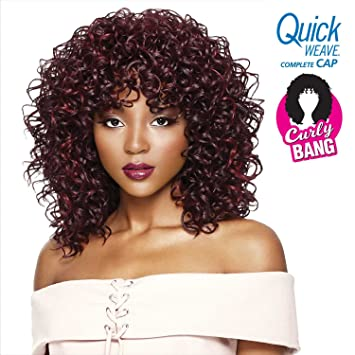 Amazon Com Outre Quick Weave Complete Cap Curly Bang Dawn 2 Beauty