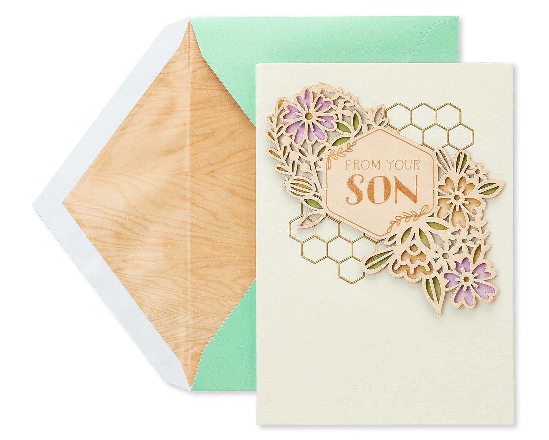 American Greetings Gratitude母の日カードから息子with Foil B07BN6PMBP