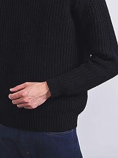 Chunky Cotton Crewneck Sweater 1113-106-4318: Navy