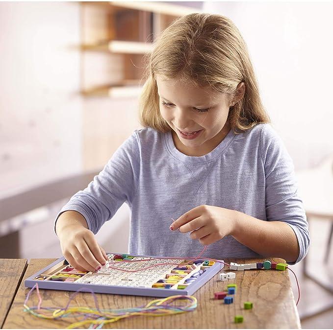 TOYANDONA 4Pcs Perles de D/és en Acrylique D/és de Jeu /à 6 Faces Apprentissage des D/és Enfants Jouant Aux D/és