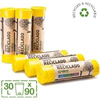 RELEVO 100% Reciclado Bolsas de Basura, Extra Resistentes