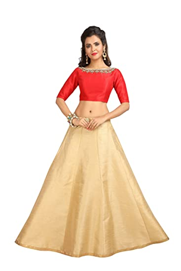 324112b49 Studio Shringaar Women's Poly Raw Silk Skirt Lehenga (SK705, Golden, Free  Size): Amazon.in: Clothing & Accessories