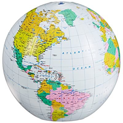 """Small World Toys Nature - Inflatable Political Globe, 16"""": Toys & Games"""