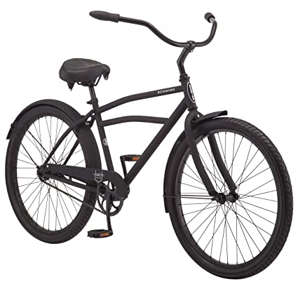 "Schwinn Huron Mens Cruiser Bike, Single Speed, 26"" ..."