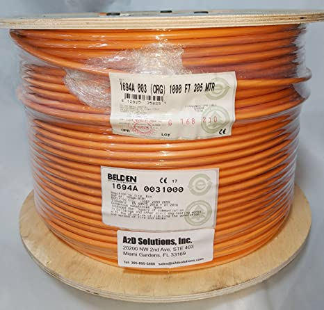 Amazon.com: Belden 1694A -0031000 - HD/SDI 18AWG RG6 Serial Digital Coaxial Cable - ORANGE: Home Audio & Theater