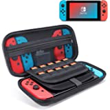 ODOM Switch Carrying Case for Nintendo Switch Game Console & Accessories - Nintendo Switch Travel Case Storage Pouch with 20