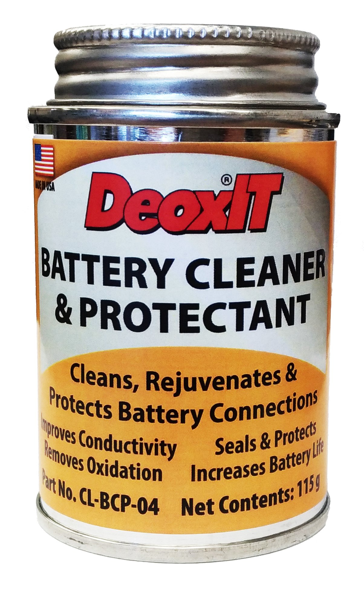 Caig DeoxIT Battery Cleaner & Protectant with Brush Lid, 118 g (CL-BCP-04)