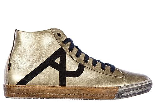 Armani Jeans Scarpe Sneakers Alte Uomo in Pelle Nuove Oro  Amazon.it  Scarpe  e borse c7b545f0987