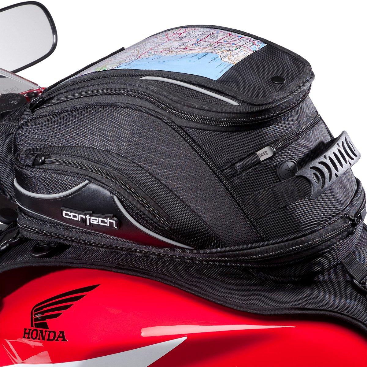 Cortech Super 2.0 10L Strap Mount Motorcycle Tank Bag - Black/One Size