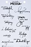 "Ranger MDR50391 Just What to Say Dina Wakley Media Cling Stamps, 6"" by 9"", Clear"