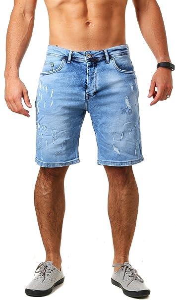 BAXMEN CULTWEAR Baxmen Herren denim Jeans Shorts kurze Hose