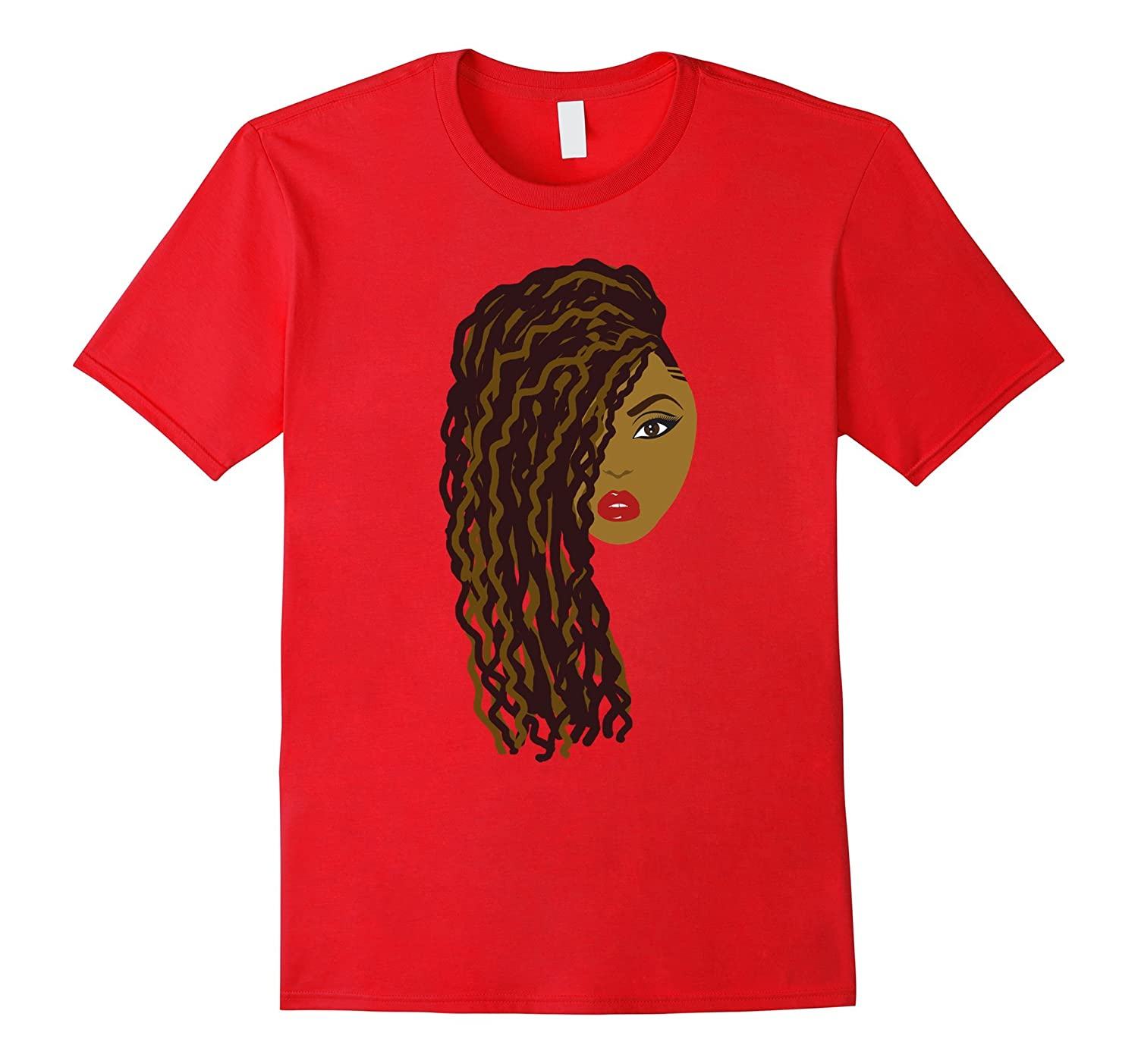 Curly Locs  Twists Natural Hair T-Shirt for Black Women-Vaci