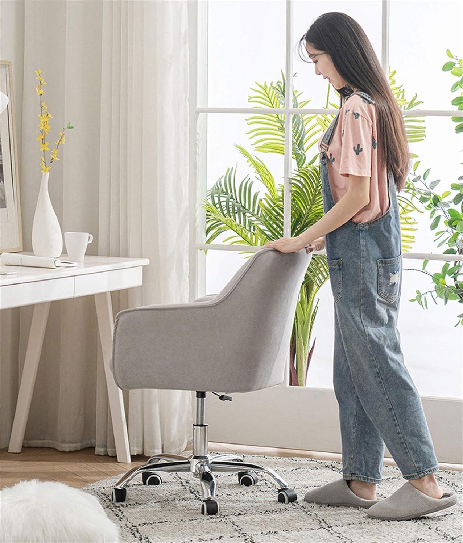 LYJBD rullande svängbar stol, dator skrivbordsstol, sammetstyg och nylonfotdesign, tjock stoppning för komfort och ergonomisk design Brun