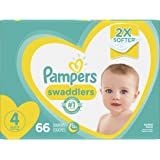 Diapers Size 4 - Pampers Swaddlers Disposable Baby Diapers, 66 Count, Super Pack (Packaging May Vary)