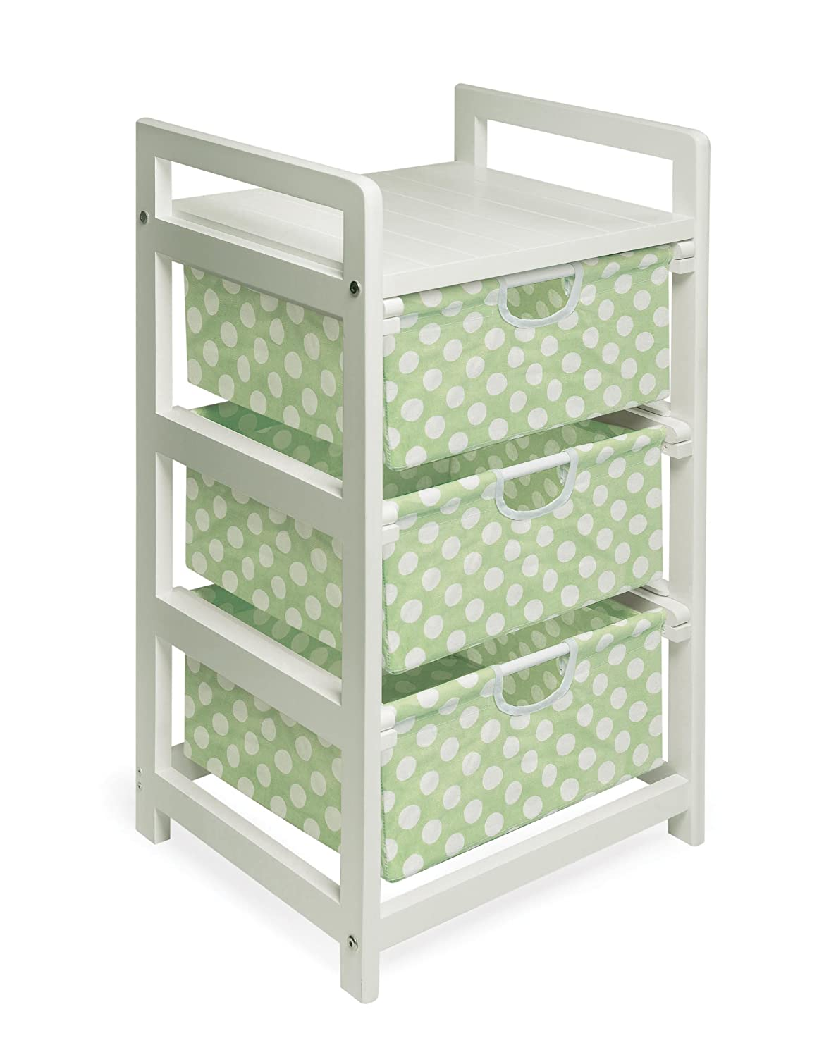 Amazon.com : Three Drawer Hamper/Storage Unit Natural/Canvas : Childrens  Storage Furniture : Baby