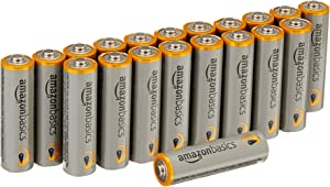 AmazonBasics AA 1.5 Volt Performance Alkaline Batteries - Pack of 20