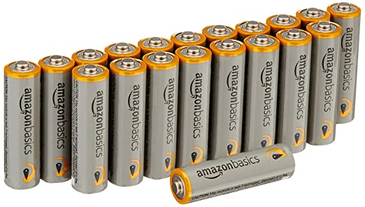 AmazonBasics AA 1.5 Volt Performance Alkaline Batteries - Pack of 20, Packaging May Vary